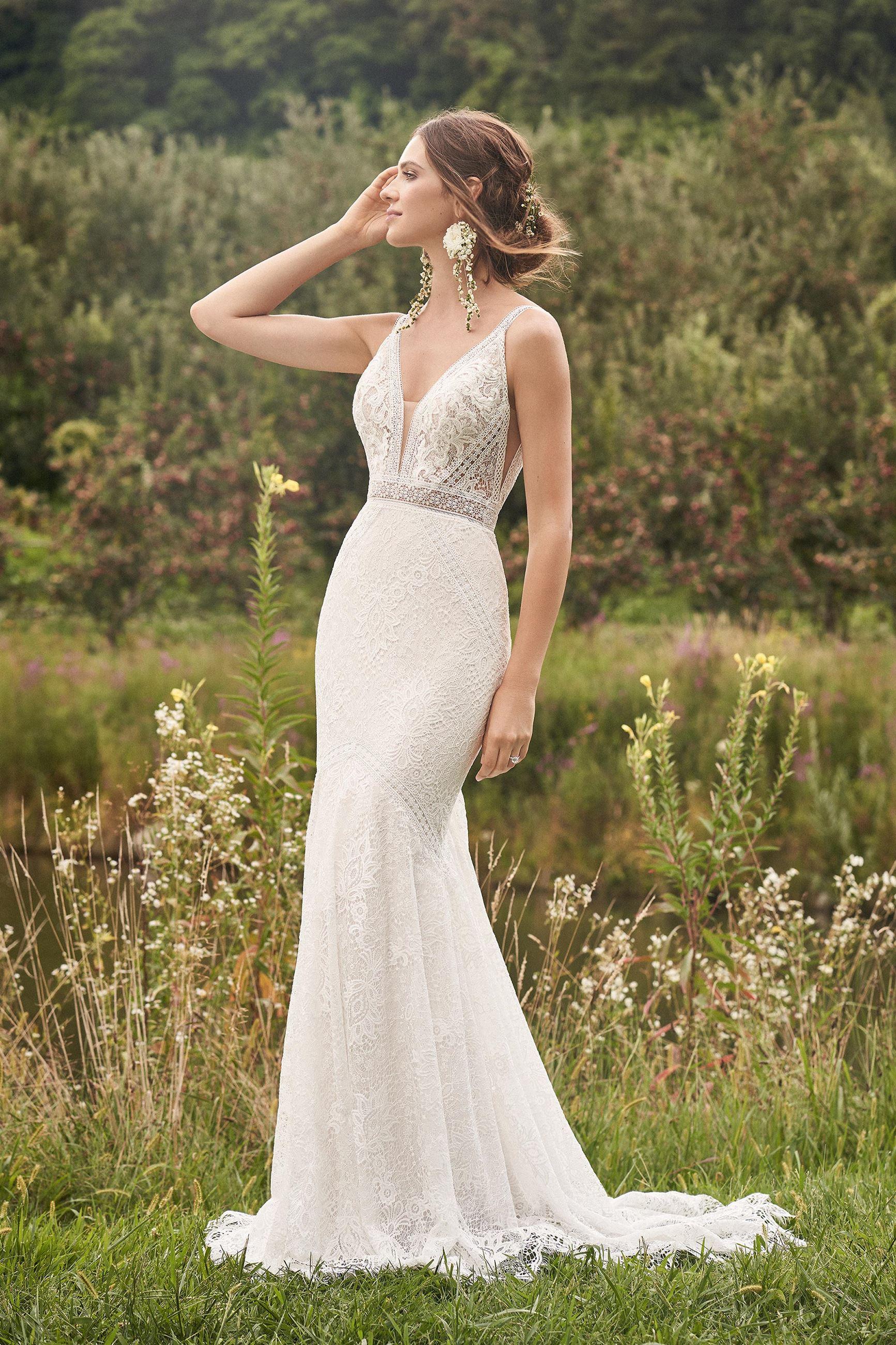 Model wearing a Lillian West gown